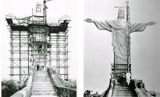 Image result for construccion del Cristo Redentor brasil